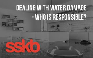 Dealing with water damange who is responsible