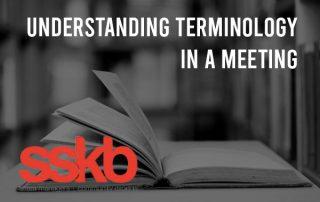 Understanding terminology in a meeting