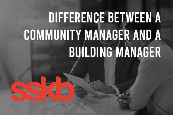 Difference between a community manager and a building manager